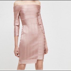 Dress French Connection, blush color